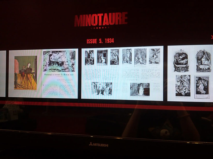 Surrealism Interactive Screen showing pages of the Minotaure